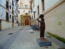 妇女的雕象 免版税库存图片