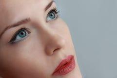 妇女的面孔。 免版税库存照片