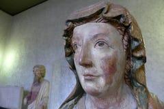 妇女的面孔的雕塑 免版税图库摄影