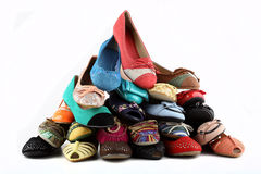 妇女的鞋子 免版税库存照片