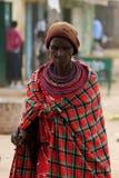 妇女的画象从桑布鲁部落的在肯尼亚 库存图片