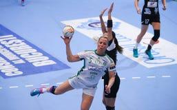 妇女的EHF拥护同盟- CSM布加勒斯特对GYORI奥迪卫藤KC 免版税库存照片