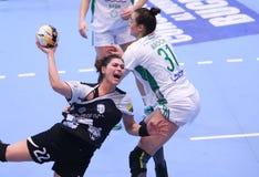 妇女的EHF拥护同盟- CSM布加勒斯特对GYORI奥迪卫藤KC 库存照片