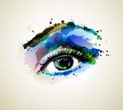 妇女眼睛 皇族释放例证