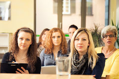 仅妇女研讨会 免版税图库摄影