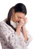 妇女祈祷。 免版税库存照片