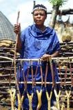 妇女祖鲁族人 免版税库存图片