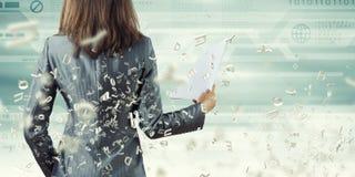 妇女秘书 免版税库存照片