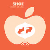 妇女穿上鞋子海报 免版税库存图片