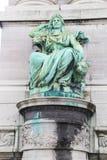 妇女绿色雕塑在布鲁塞尔 库存照片