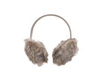 妇女羊毛assesory为耳朵 库存照片