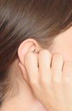 妇女耳朵 图库摄影