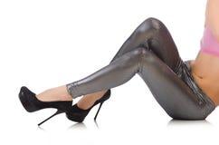 妇女腿 库存图片