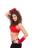 妇女舞蹈演员用在题头的现有量 免版税库存图片