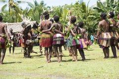 妇女舞蹈仪式在巴布亚新几内亚 免版税库存图片