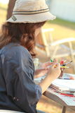 妇女艺术家 免版税库存照片