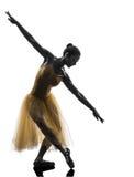 妇女芭蕾舞女演员跳芭蕾舞者跳舞剪影 图库摄影