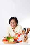 妇女营养师 图库摄影