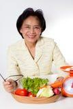 妇女营养师 免版税库存照片