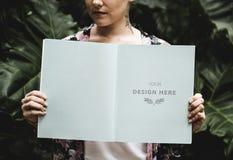 妇女藏品设计杂志空间页  免版税库存照片