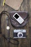 妇女袋子材料 免版税图库摄影