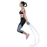 妇女被隔绝的健身锻炼 免版税图库摄影