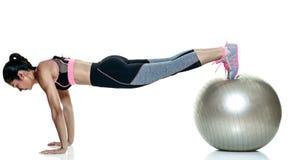 妇女被隔绝的健身锻炼 库存照片