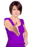 妇女要握您的手 图库摄影