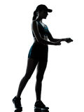 妇女赛跑者慢跑者 免版税库存照片