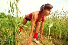 妇女赛跑者 库存图片