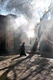 妇女走了Weisang熔炉 免版税库存图片