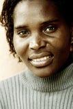 妇女起皱纹的年轻人 免版税库存照片