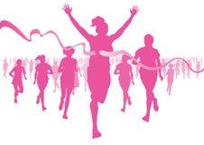 妇女跑 免版税库存照片