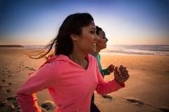 妇女跑 图库摄影