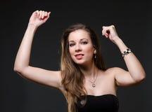妇女跳舞 免版税图库摄影