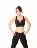 妇女锻炼 免版税库存图片