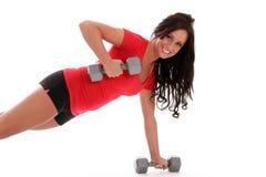 妇女锻炼 免版税库存照片