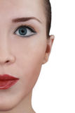 妇女面孔。 免版税库存照片