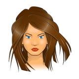 妇女面孔传染媒介例证 图库摄影