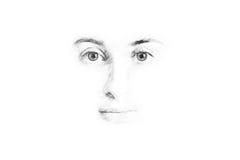 妇女面孔剪影 免版税库存照片