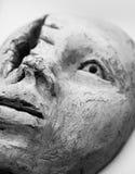 妇女面孔雕塑 免版税图库摄影
