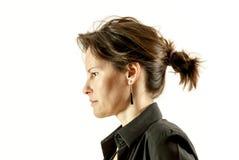 妇女面孔画象 免版税库存照片