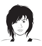 妇女面孔 免版税库存图片