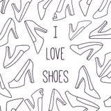 妇女鞋子横幅模板传染媒介 免版税库存图片