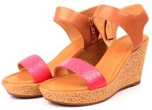 妇女鞋子 图库摄影