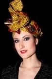 妇女顶头围巾 免版税库存照片