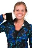 妇女饮用的咖啡 库存照片