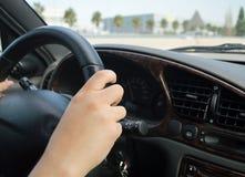 妇女驾驶 免版税库存照片