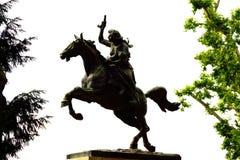妇女骑马雕象罗马意大利 免版税库存图片