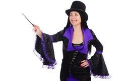 妇女魔术师 免版税库存照片